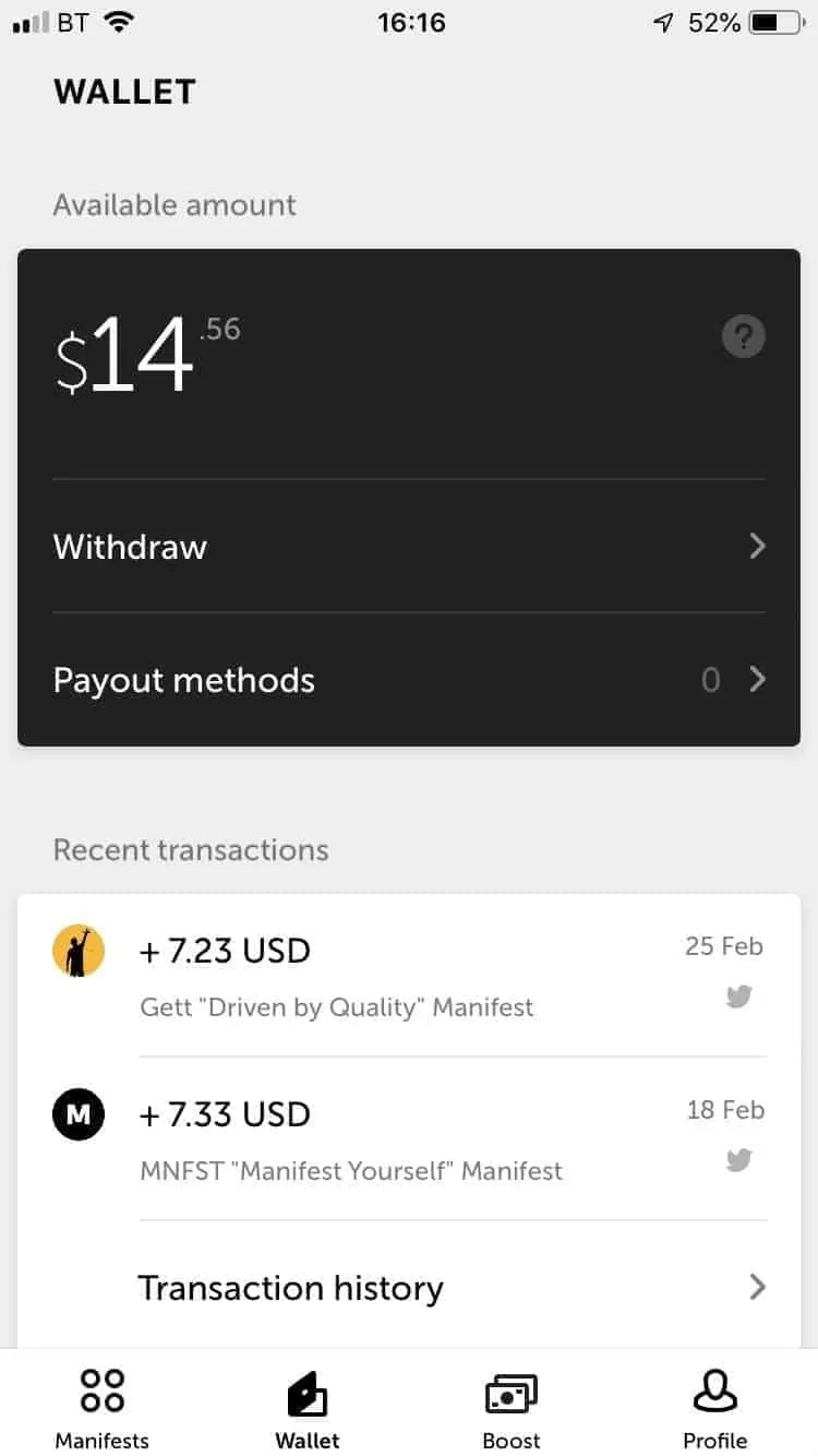 manifest the app that pays you to post on social media