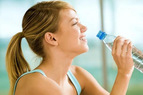 hot girl Drinking water