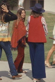 Lots of fringe and vests happening in this photo taken at Woodside High School, in Woodside, Calif.