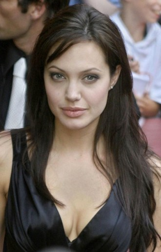US actress Angelina Jolie poses for phot