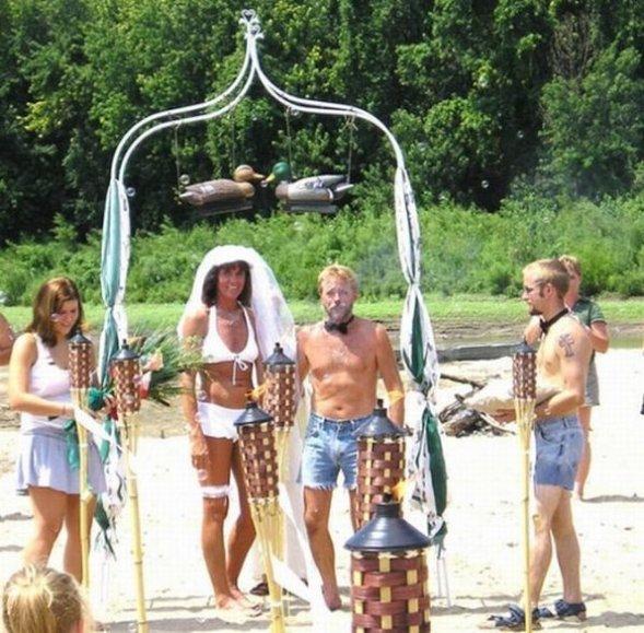 naked wedding ceremony