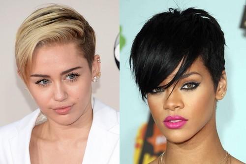 Miley Cyrus, Rihanna Hairstyles