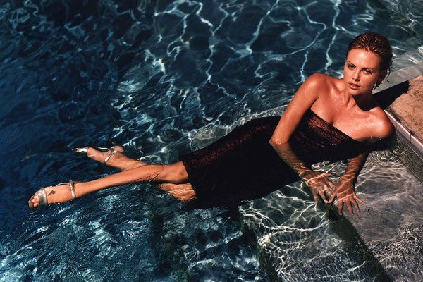 charlize theron in water hot