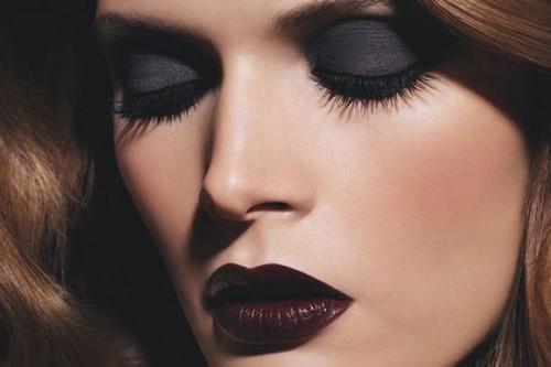 Wearing deep, dark Lip Colors