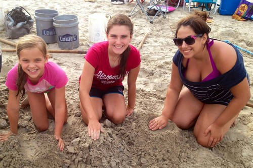 Girls Making Base