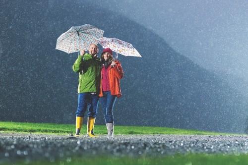 A couple Enjoying Rain