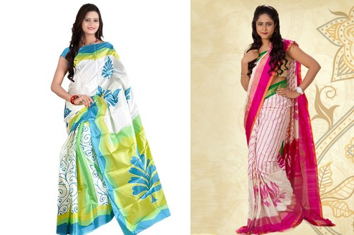 Ikkat Silk Traditional Saree Styles
