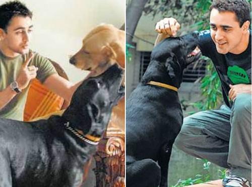 Imran Khan with dog