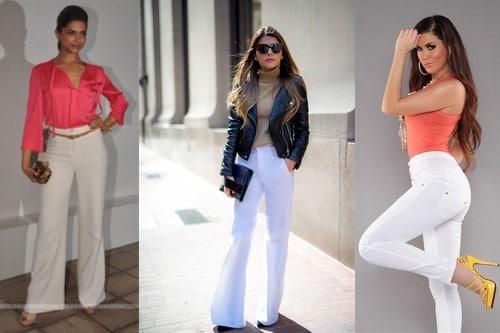 Statement white pants