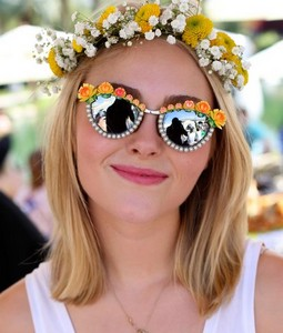 Long Bob with Flower hair band