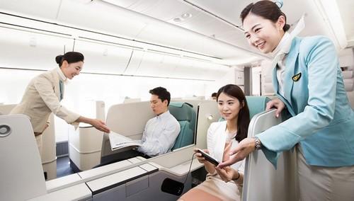 Korean air luxury cabin