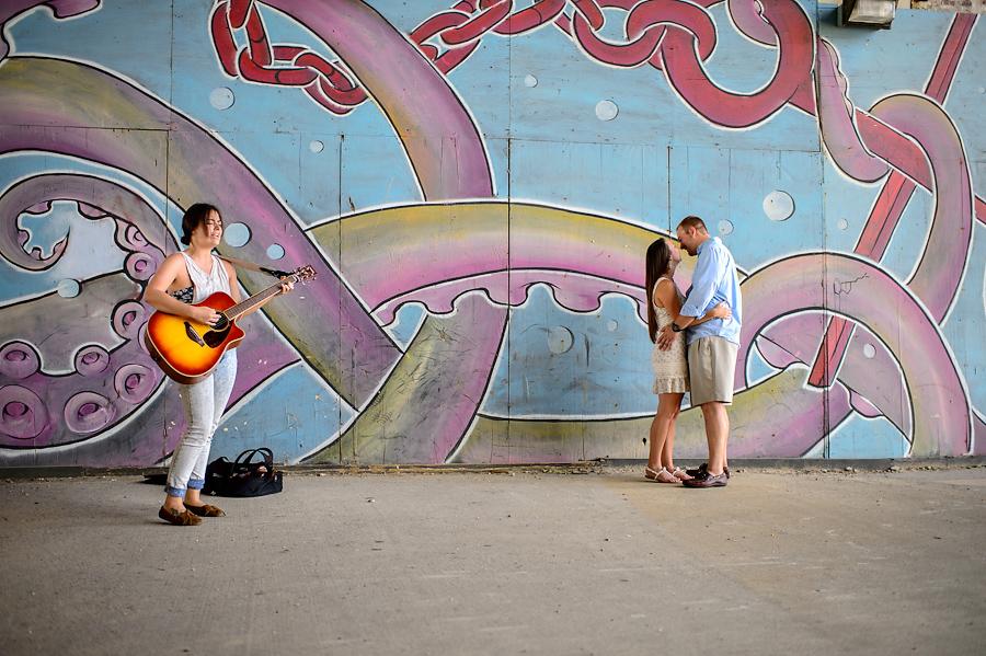 asbury park porkchop mural engagement portrait