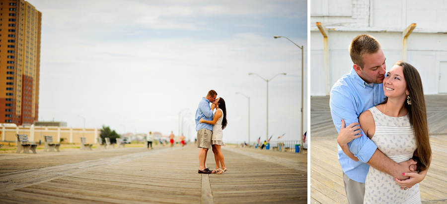 Asbury Park Boardwalk Engagement Photo