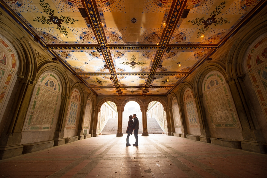 Bethesda Fountain Central Park Engagement Photos {Sabrina & Matt}