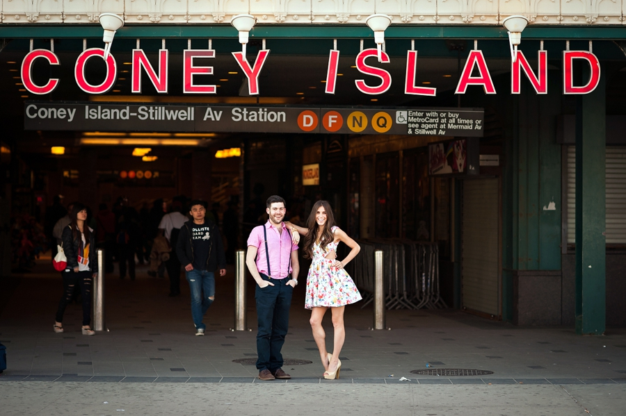 Coney Island Engagement Photos {Stephanie & Marty}