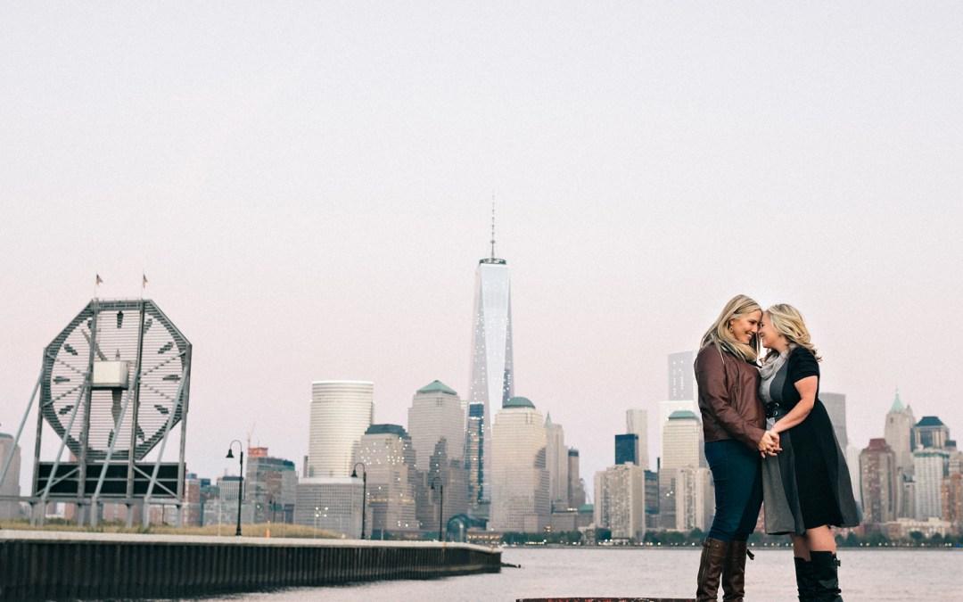 Jersey City Engagement Photos {Jessica & Danielle Teaser}