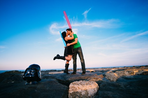 Rebecca & Clay's Star Wars Themed Engagement Photos