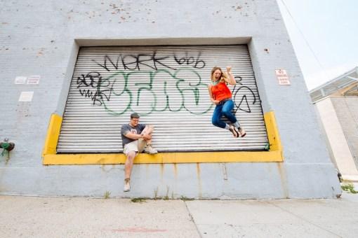 Lindsey & John's Brooklyn Bridge Engagement Photos