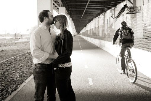 Annie & David's Riverside Park Engagement Photos