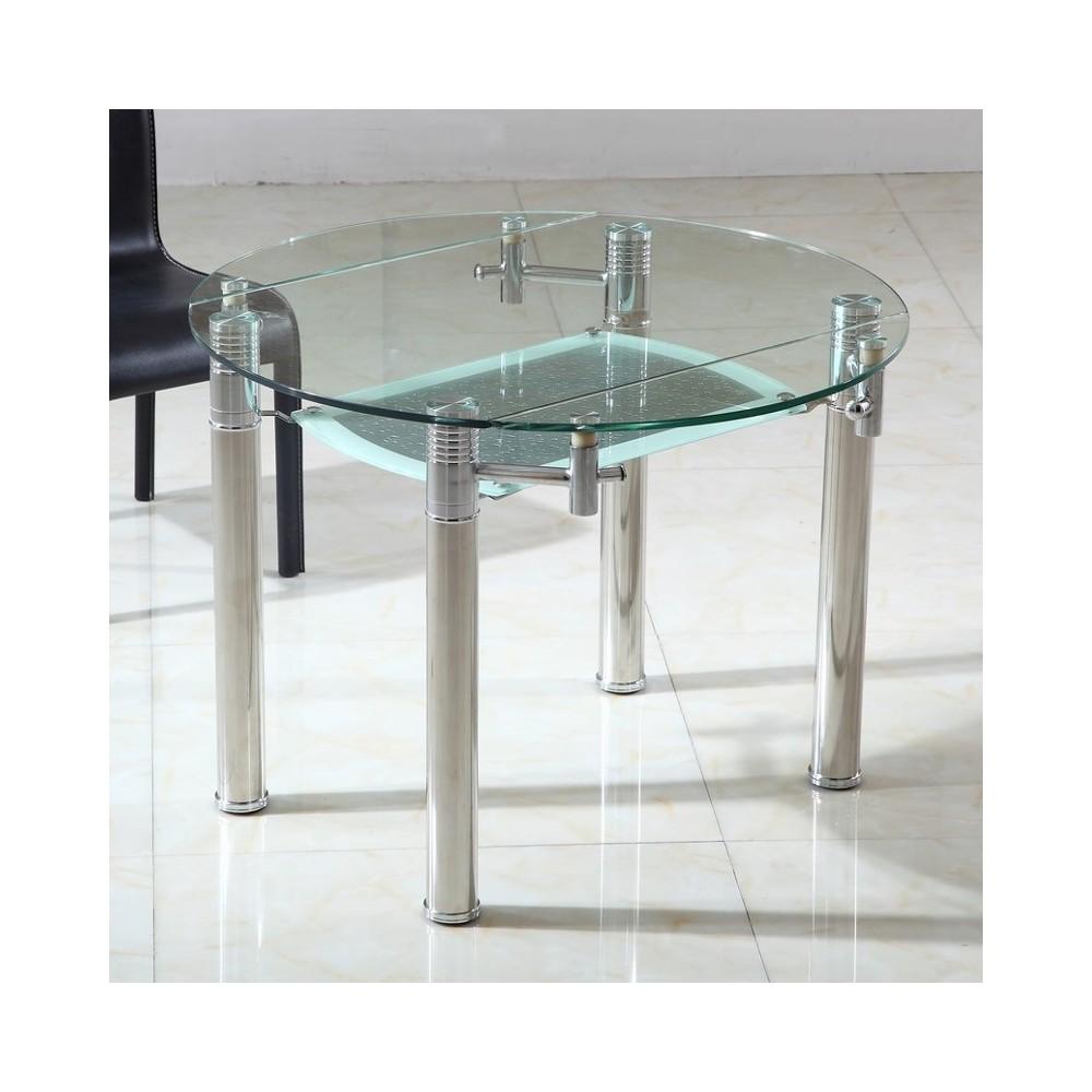 Table Ronde En Verre Extensible Ronde Table De Lit