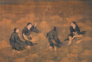 Four Immortals Saluting Longevity