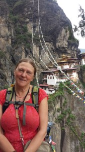 On her field trip to Tiger's Nest after the Congress. (Photo shared by Linda McDonald)