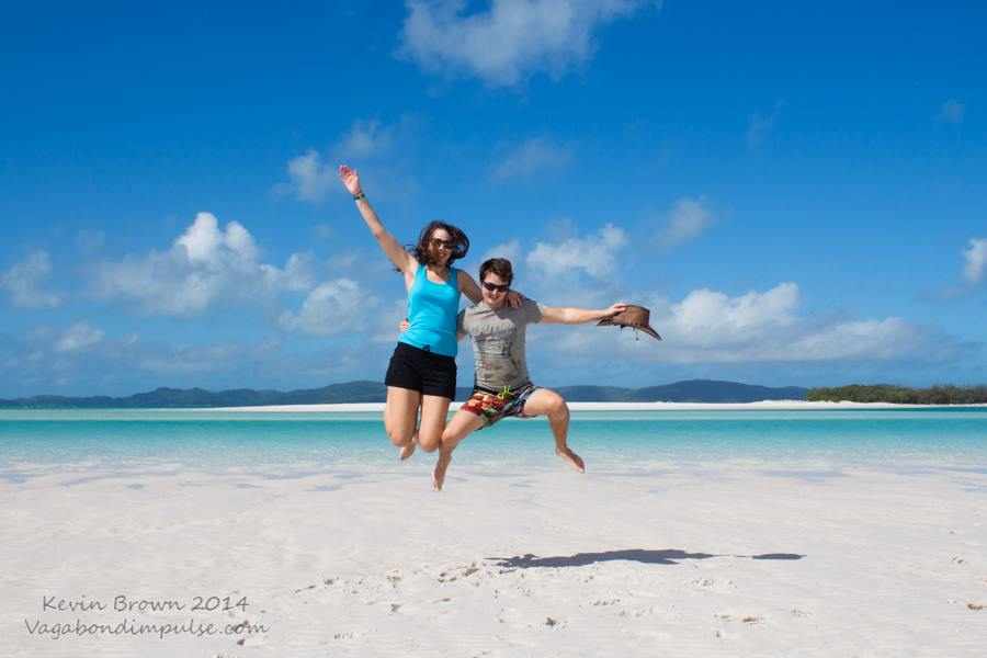 On Whitehaven Beach, Whitsunday Islands