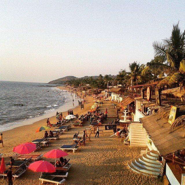 view over anjuna beach goa india