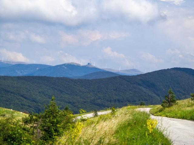 buzludzha over the hills