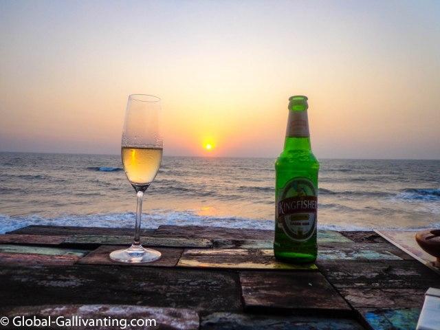 global gallivanting sunset drinks