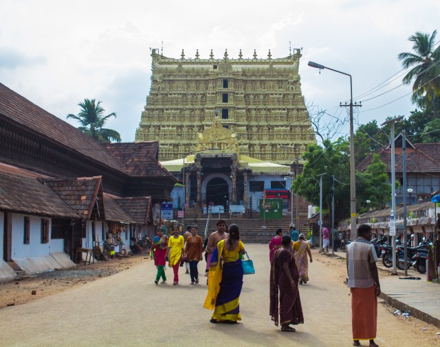 The golden temple in Trivandrum