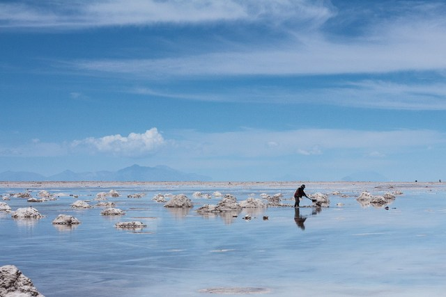 The amazing salt flats in Bolivia