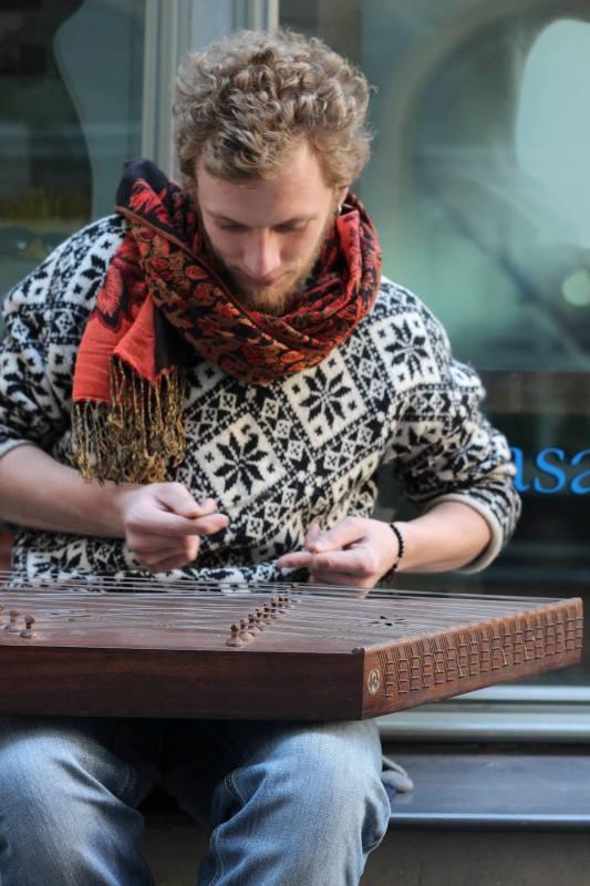 playing the santur