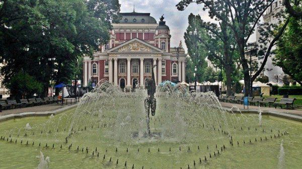 The national theatre in Sofia