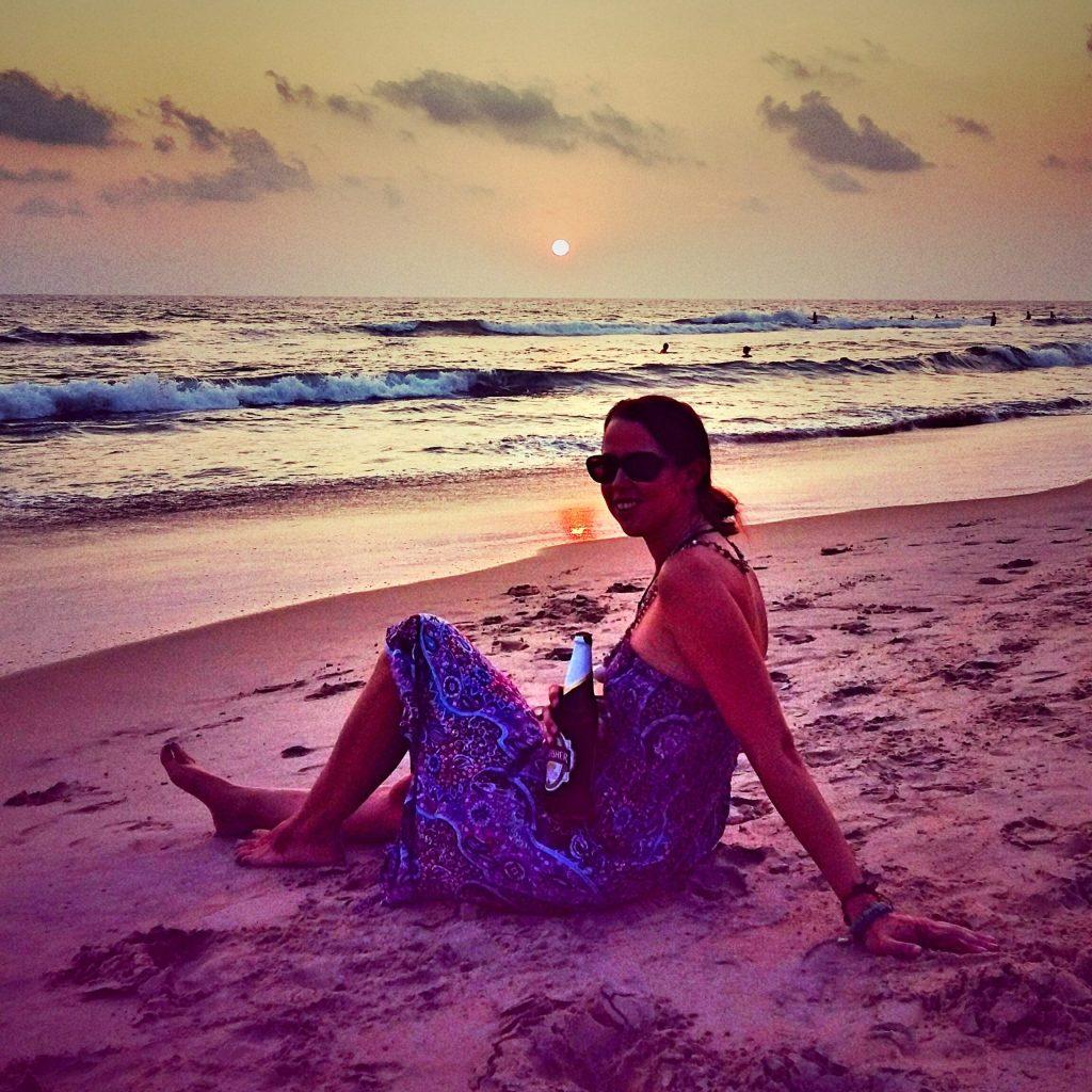 Gorgeous sunsets on Varkala Beach