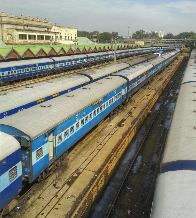 The best way to travel India is by train.