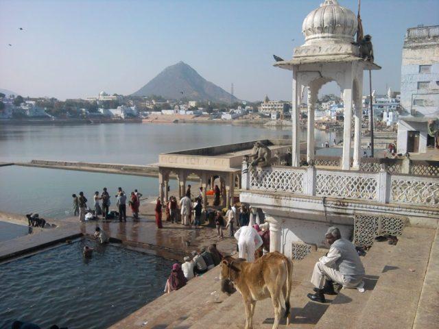 The ghats at Pushkar