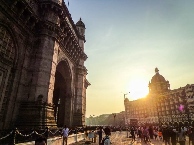 The Gateway of India with the iconic Taj Palace Hotel