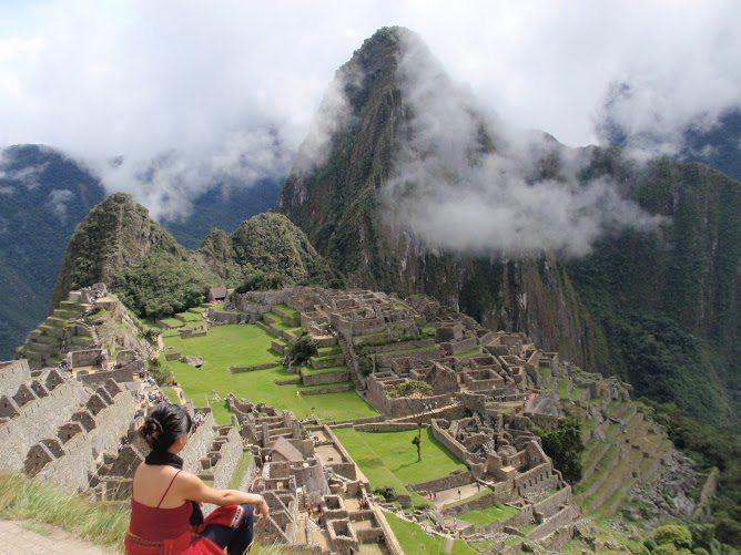 Trisha Velarmino from P.S I'm On My Way at Machu Picchu in Peru