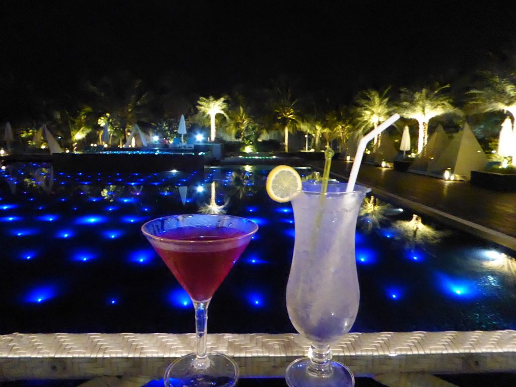 cocktails by the pool at Planet Hollywood Goa!