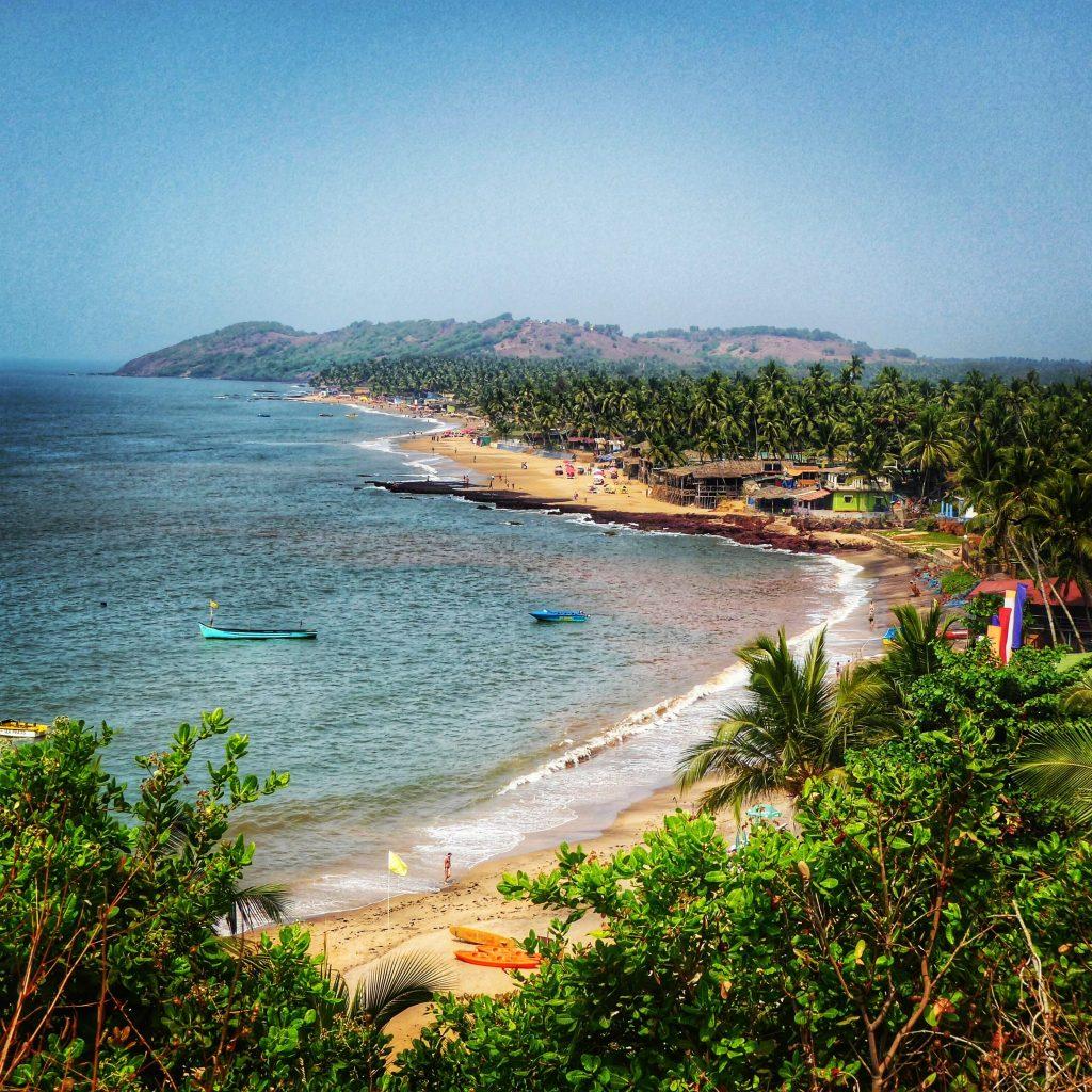 View over Anjuna Beach