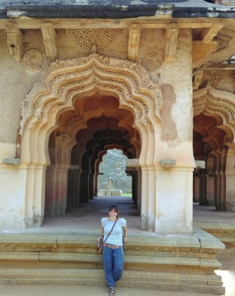 Emily exploring India