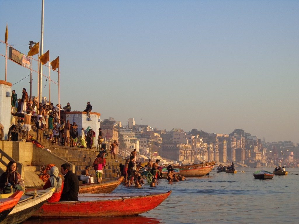 The holy river Ganges in Varanasi