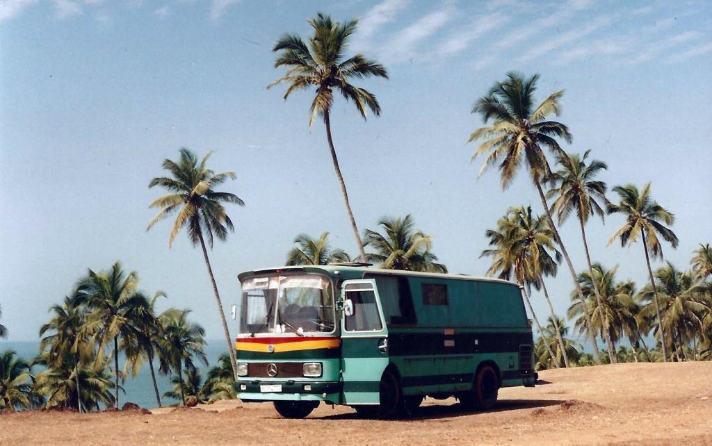 Hippie vans in Goa. Photo Credit: Roger Rea