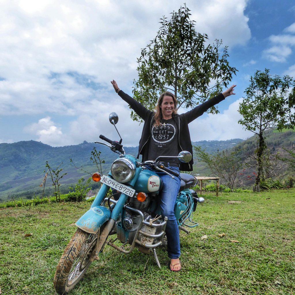 riding a royal enfield in Nagaland