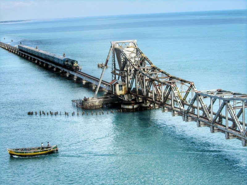 Railway bridge to Rameshwaram.
