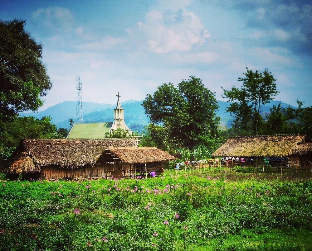 Villages and churches in Nagaland