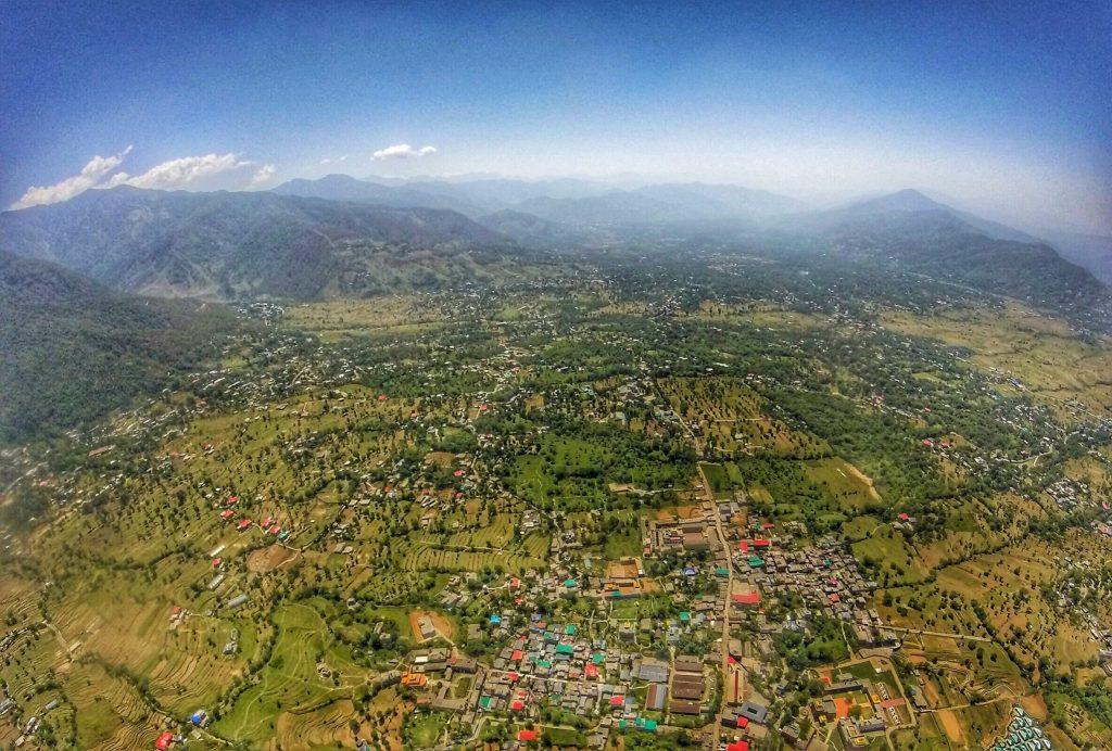 Views from paragliding in Bir Billing, Himachal Pradesh, India