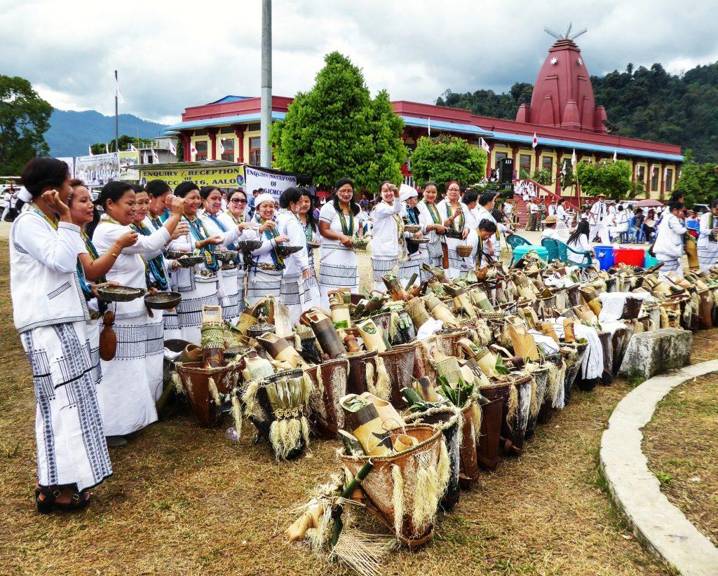 The Galo tribe celebrating the Mopin festival, Aalo, Arunachal Pradesh