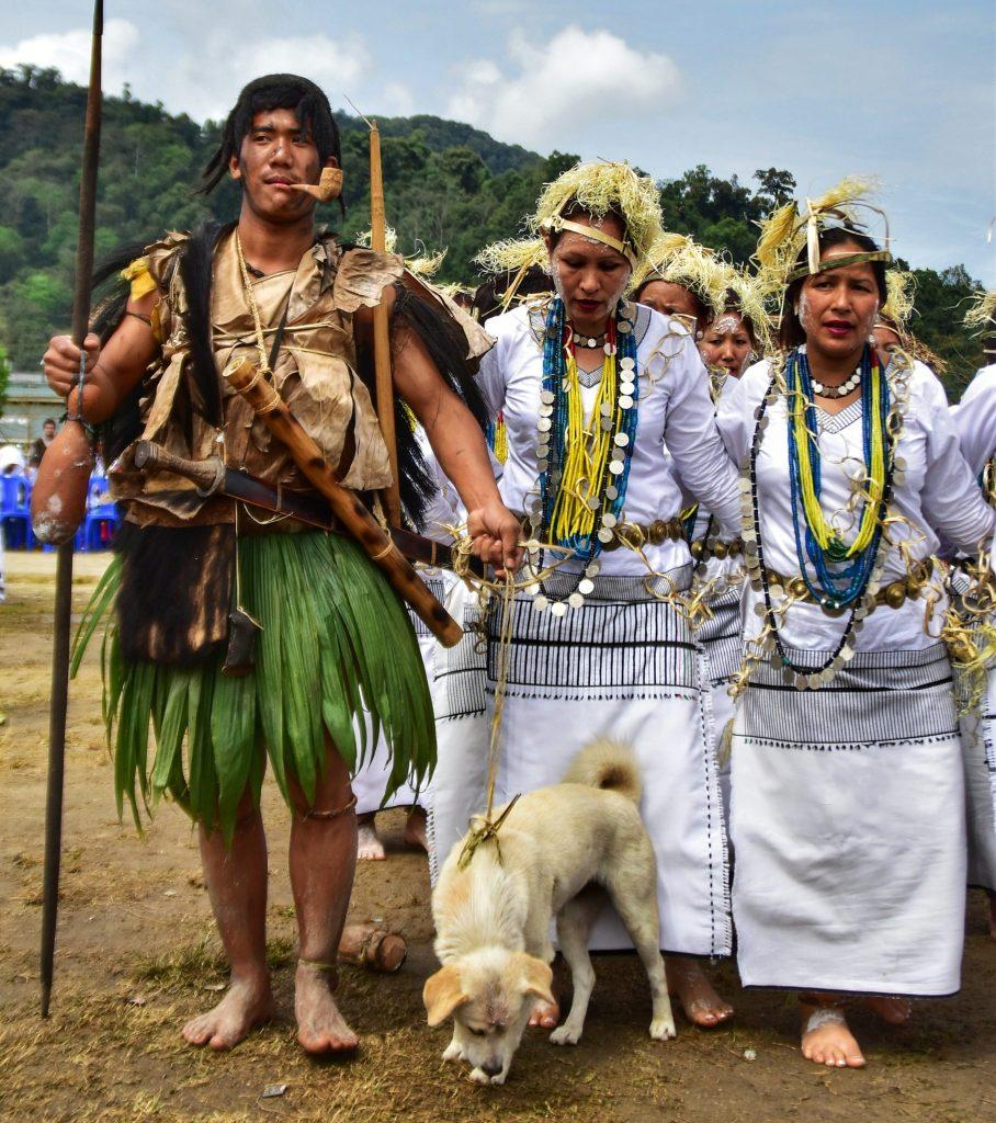 Galo tribal people celebrating Mopin fesitval